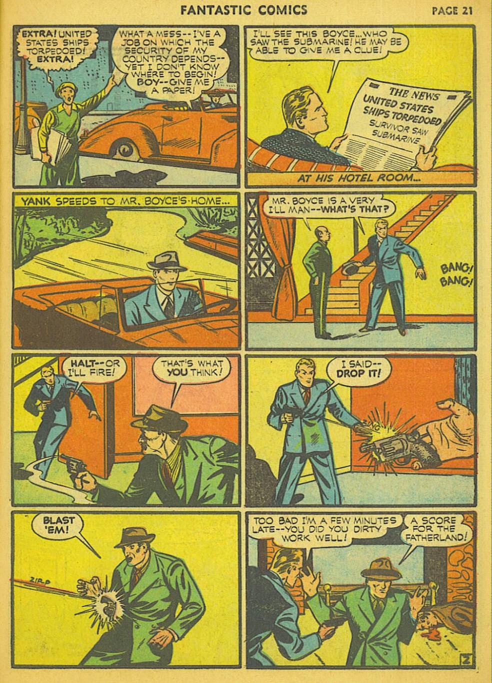 Read online Fantastic Comics comic -  Issue #15 - 15