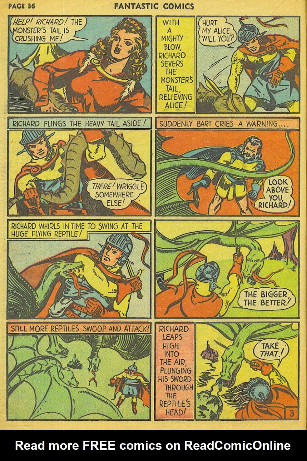Read online Fantastic Comics comic -  Issue #15 - 29