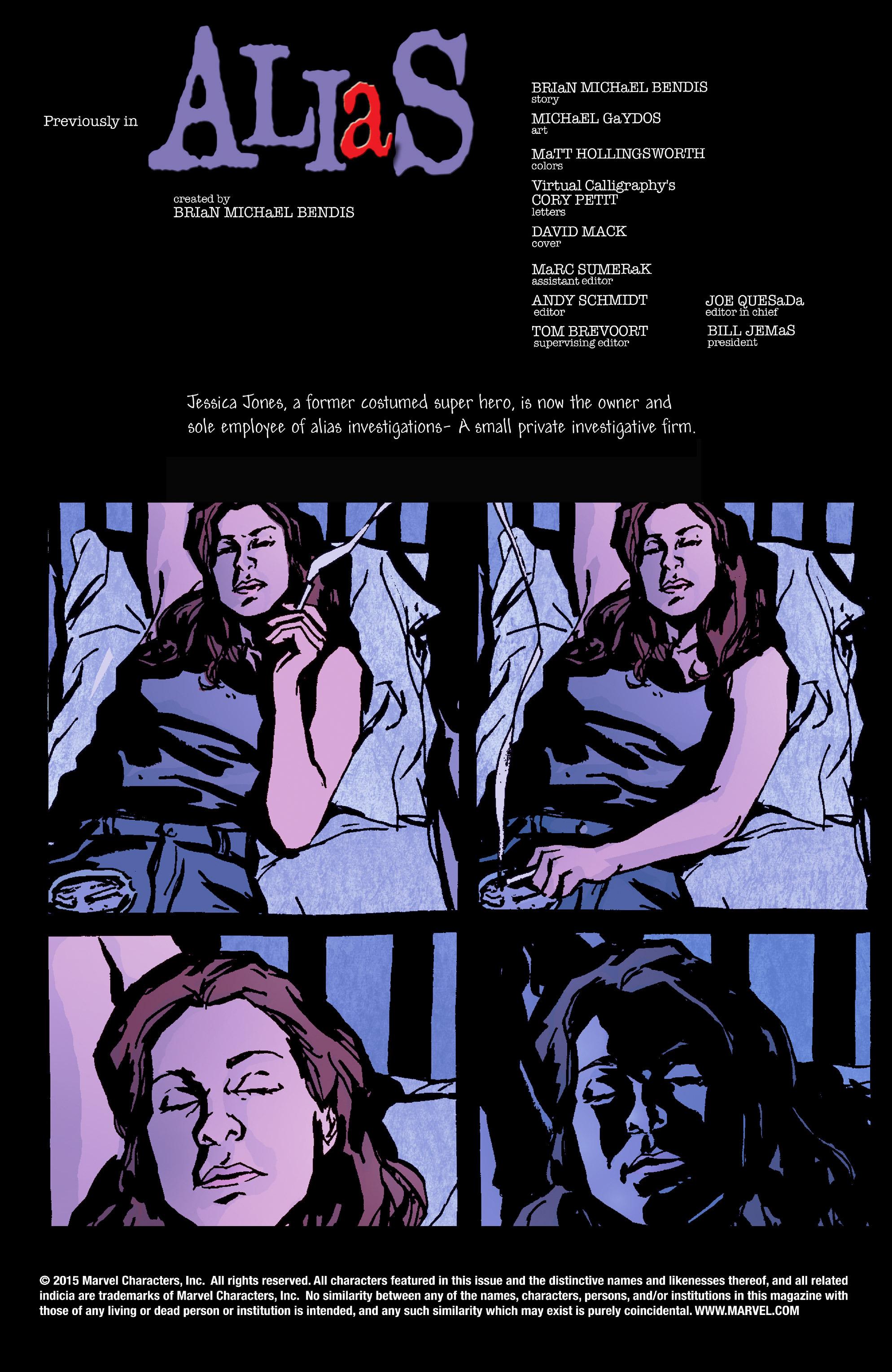 Read online Alias comic -  Issue #27 - 2