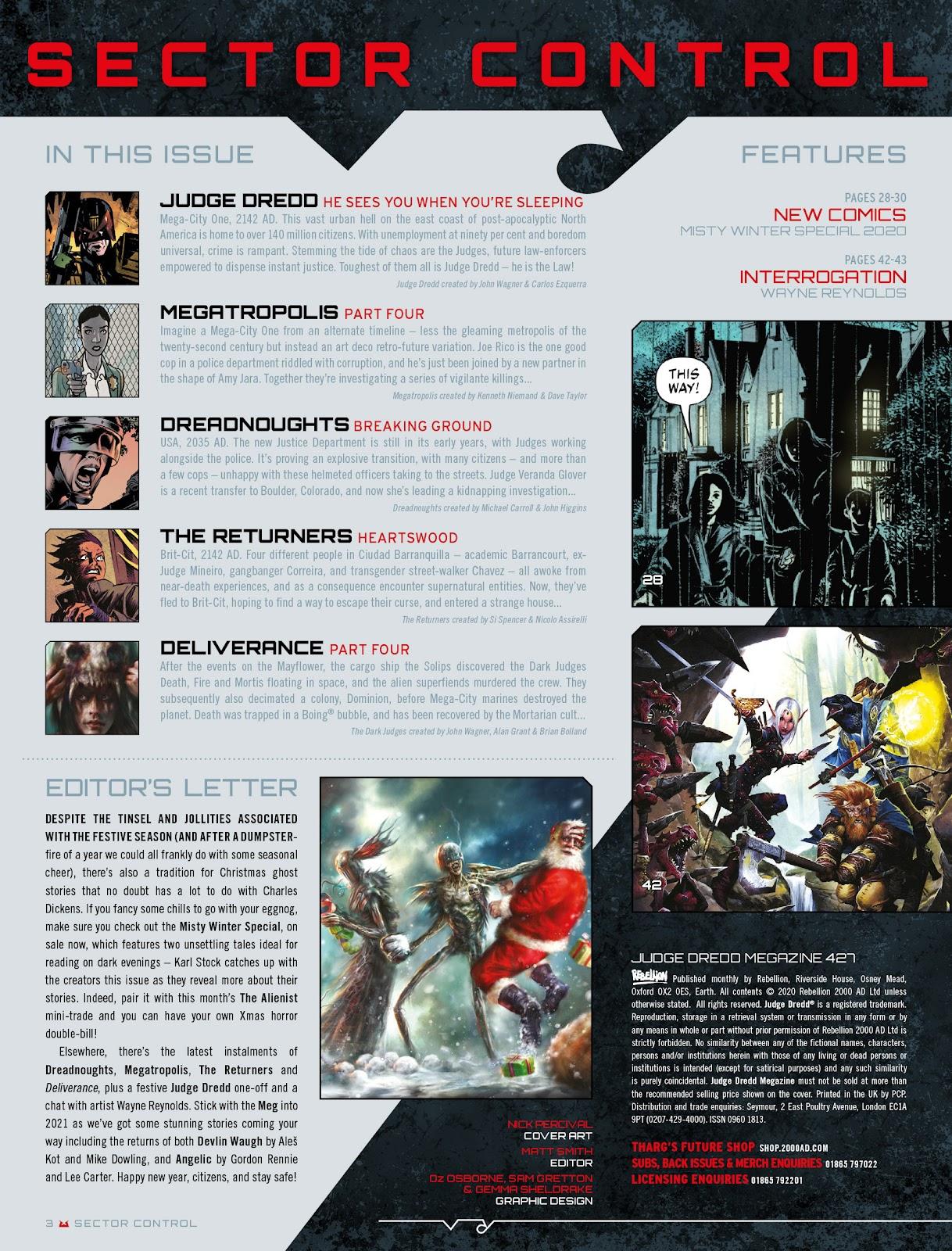 Judge Dredd Megazine (Vol. 5) issue 427 - Page 3