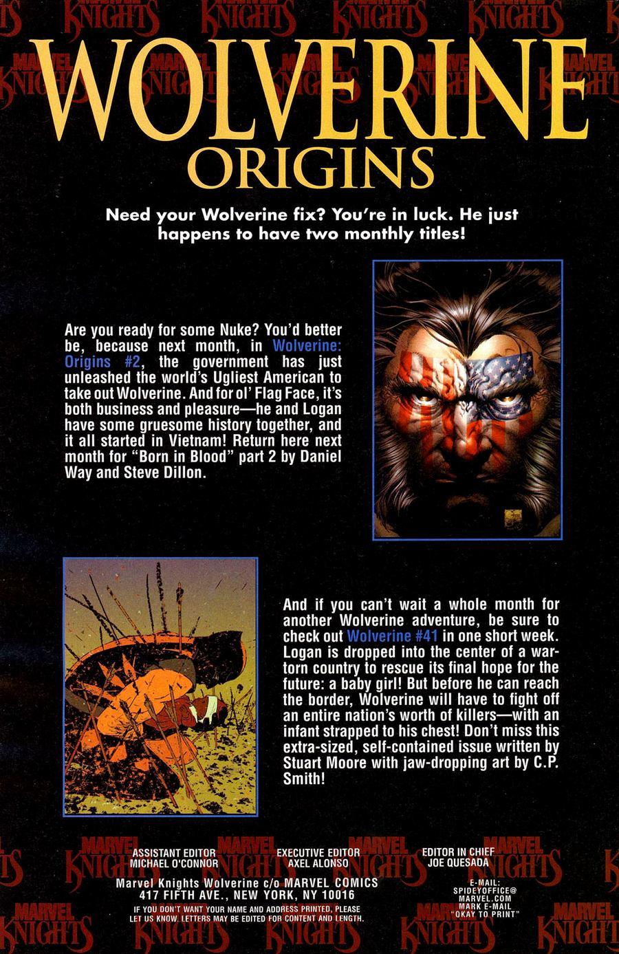 Read online Wolverine: Origins comic -  Issue #1 - 26