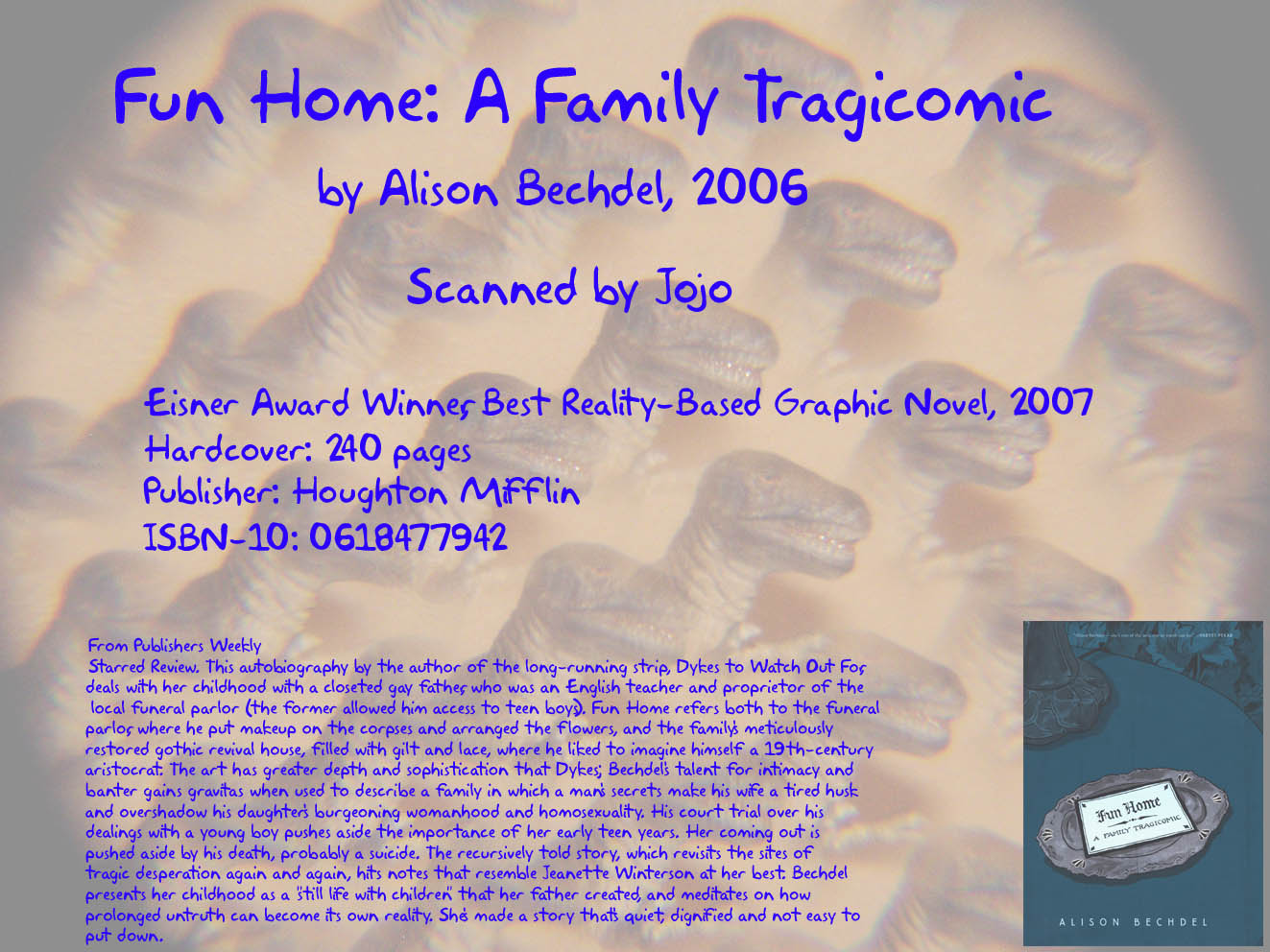 Read online Fun Home: A Family Tragicomic comic -  Issue # TPB - 242