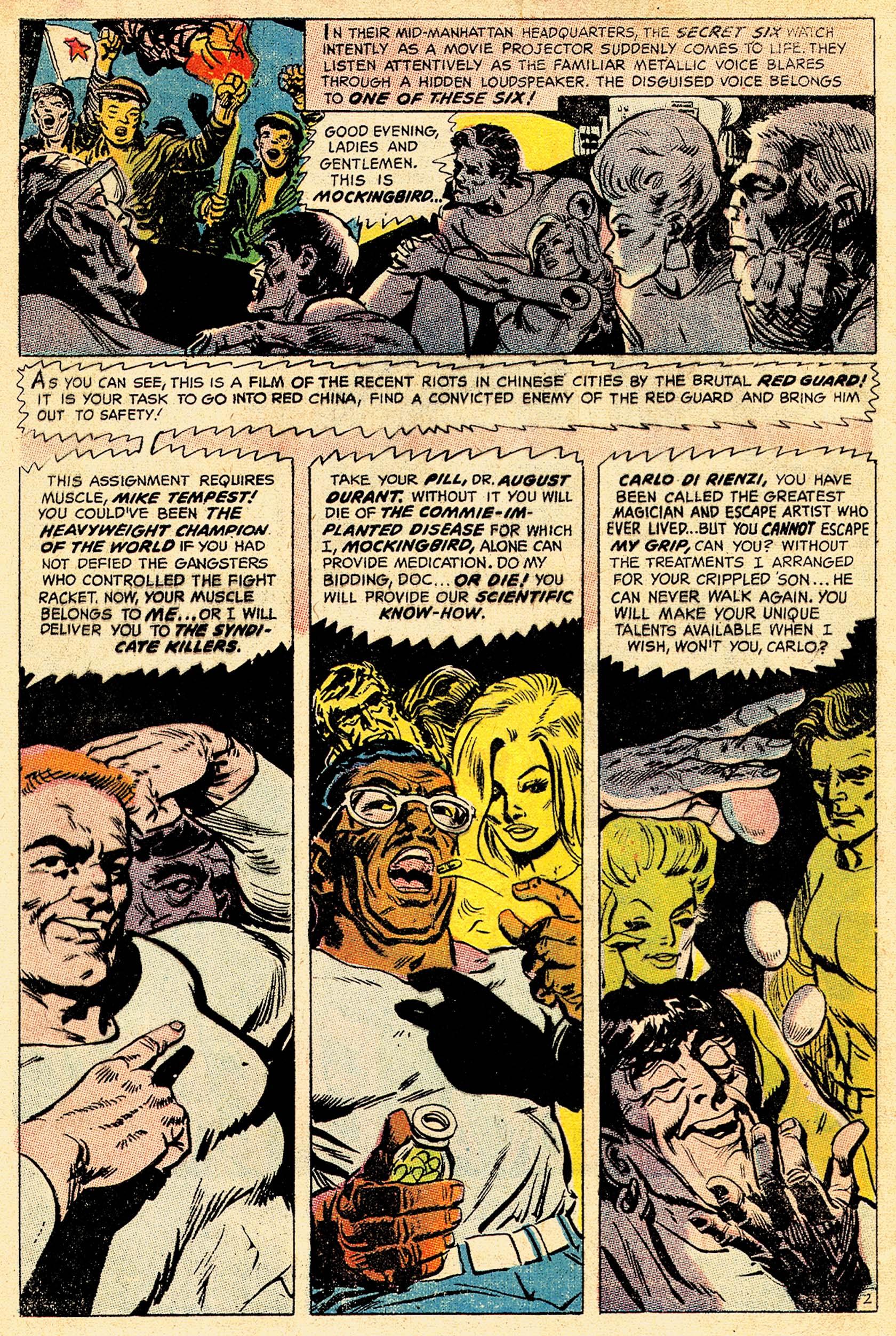 Read online Secret Six (1968) comic -  Issue #4 - 4