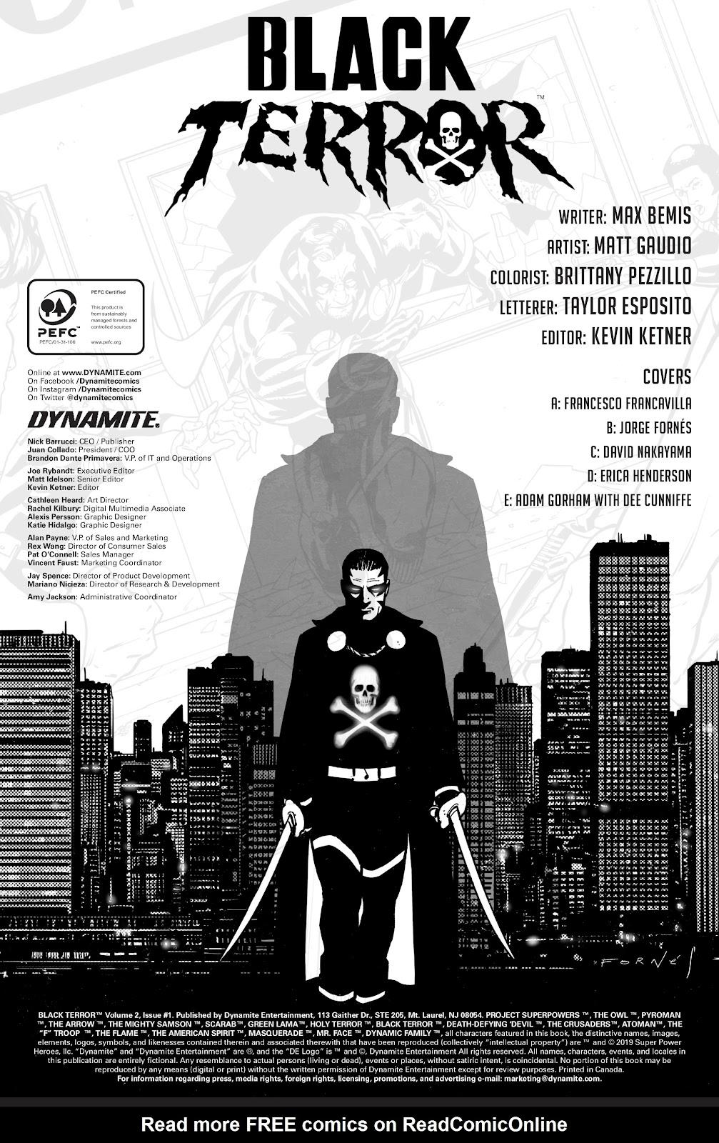 Read online Black Terror (2019) comic -  Issue # Full - 6