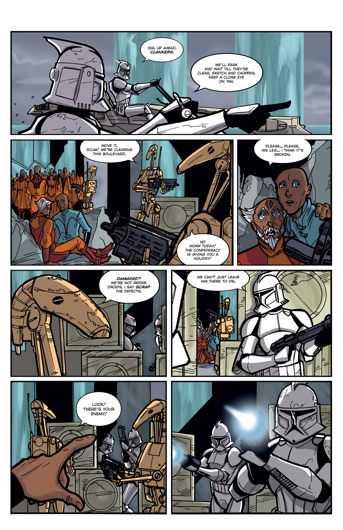 Read online Star Wars: Tales From The Clone Wars comic -  Issue # TPB - 114