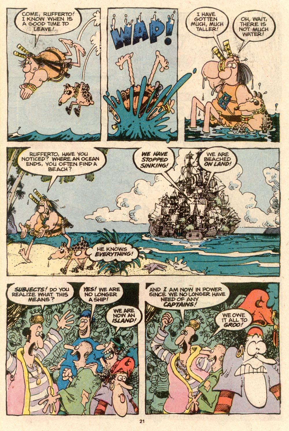 Read online Sergio Aragonés Groo the Wanderer comic -  Issue #57 - 22