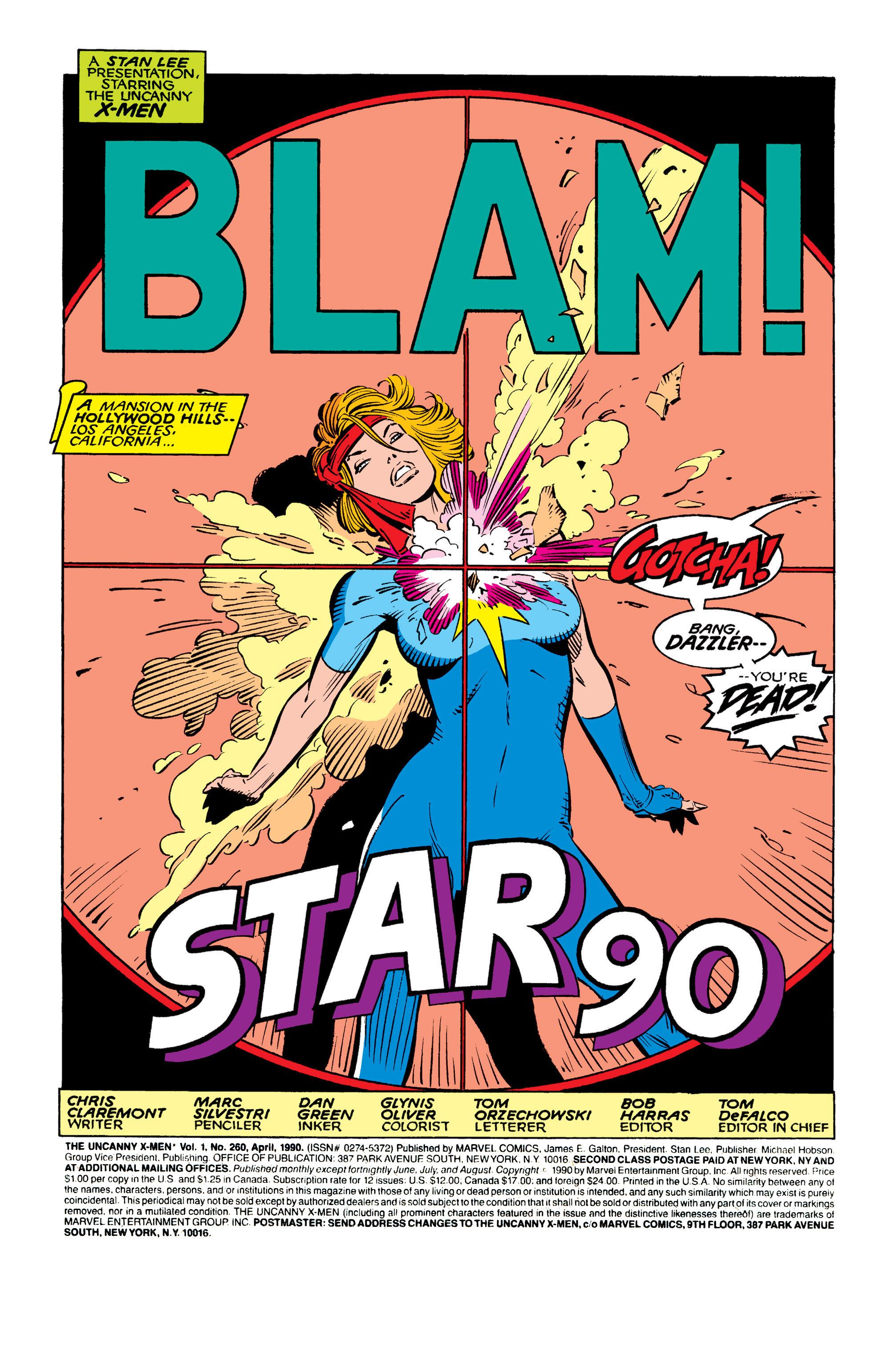 Read online Uncanny X-Men (1963) comic -  Issue #260 - 2