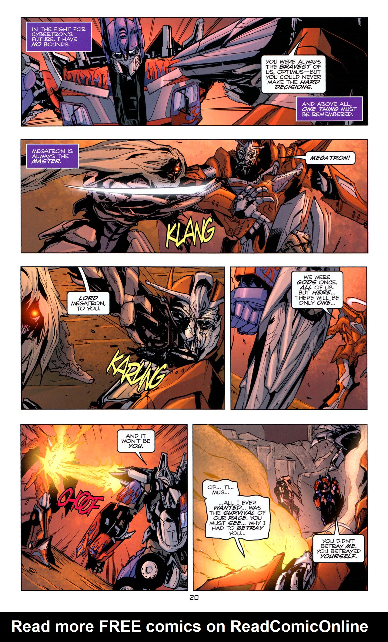 Read online Transformers: Dark of the Moon Movie Adaptation comic -  Issue #4 - 21