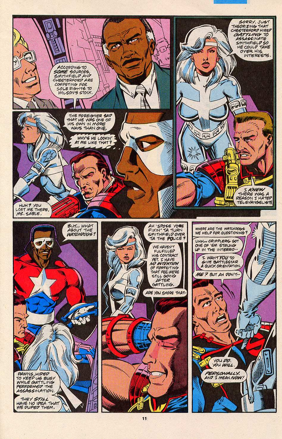 Read online Silver Sable and the Wild Pack comic -  Issue #3 - 10