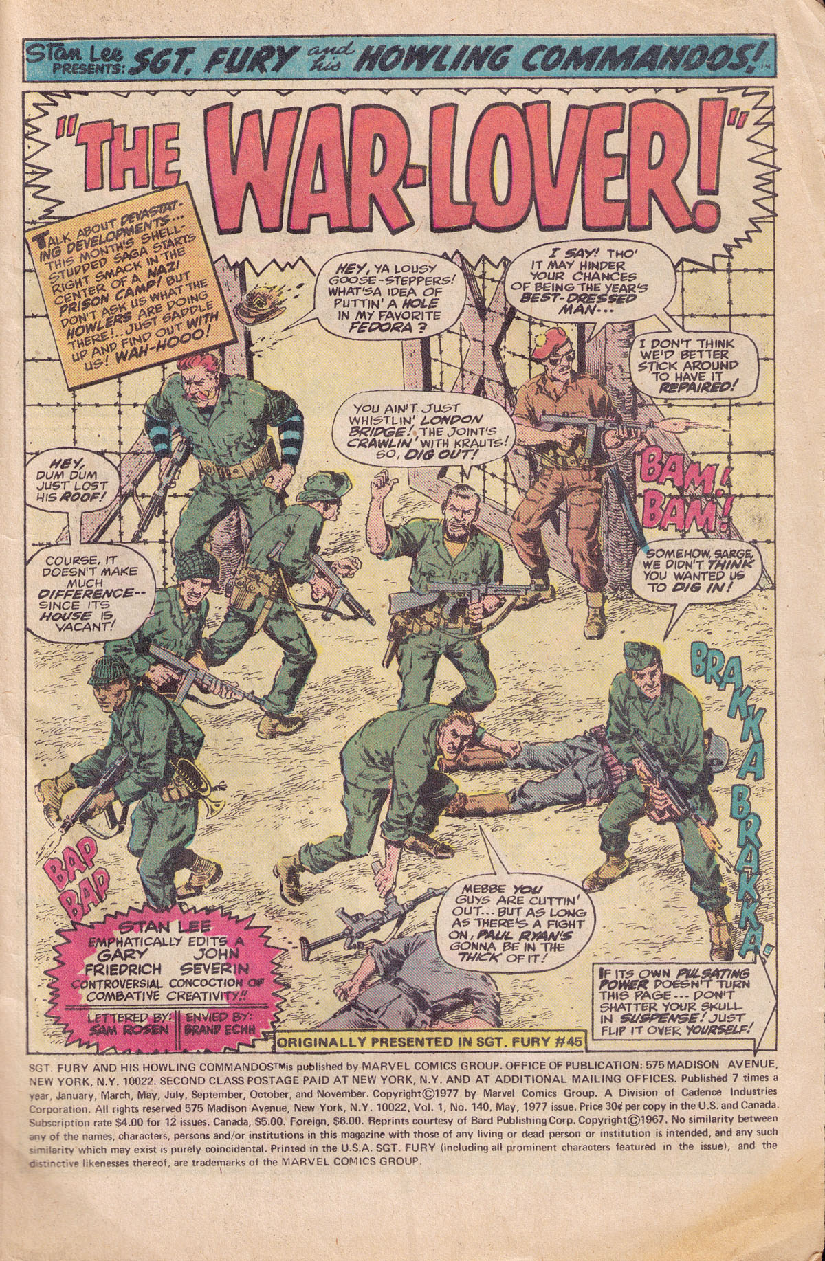 Read online Sgt. Fury comic -  Issue #140 - 3