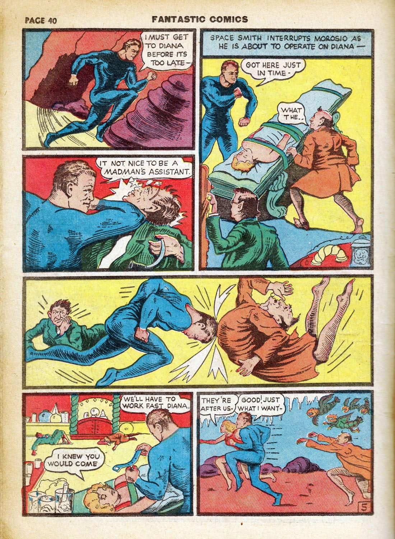 Read online Fantastic Comics comic -  Issue #7 - 42