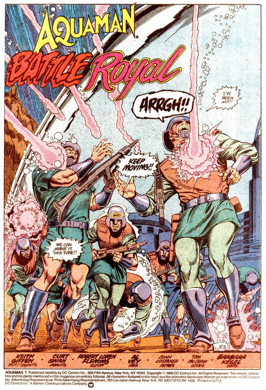 Read online Aquaman (1989) comic -  Issue #5 - 2