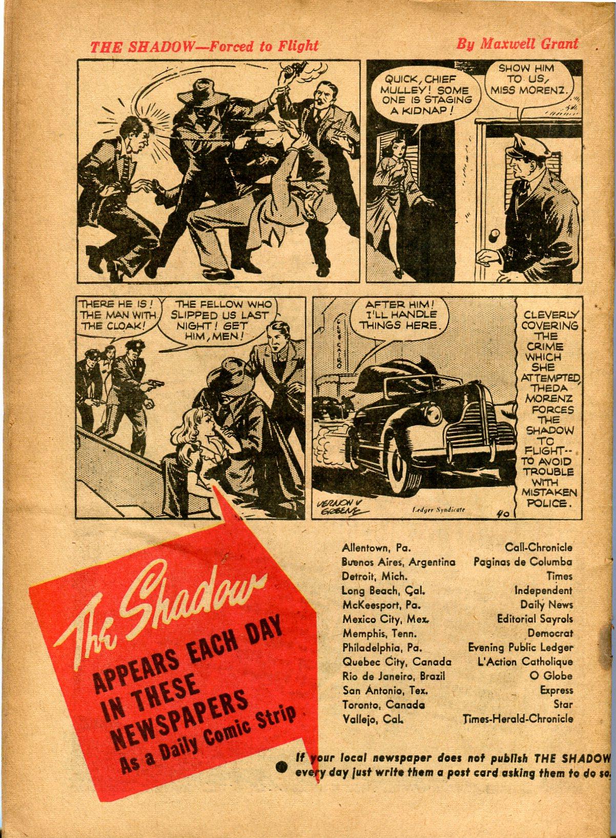Read online Shadow Comics comic -  Issue #8 - 64