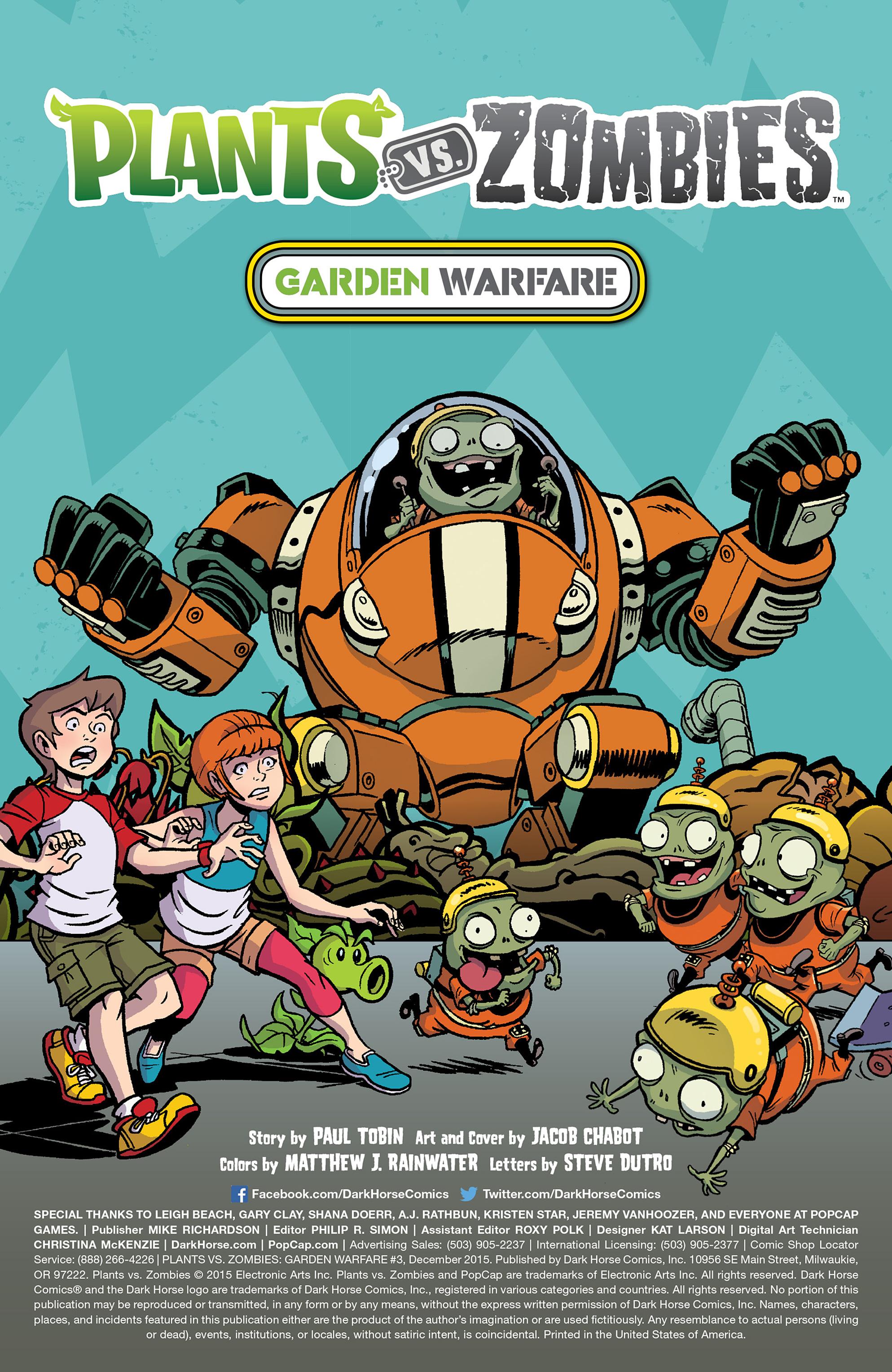 plants vs zombies garden warfare issue 3 - Pvz Garden Warfare 3