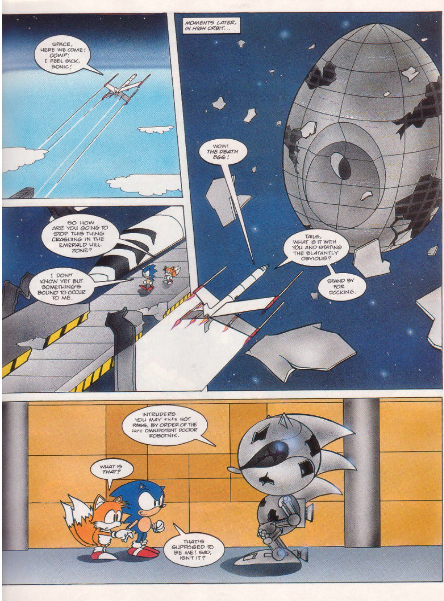 Read online Sonic the Comic comic -  Issue #6 - 7
