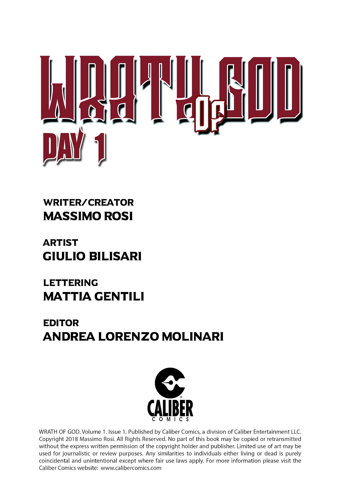 Read online Wrath of God comic -  Issue #1 - 2