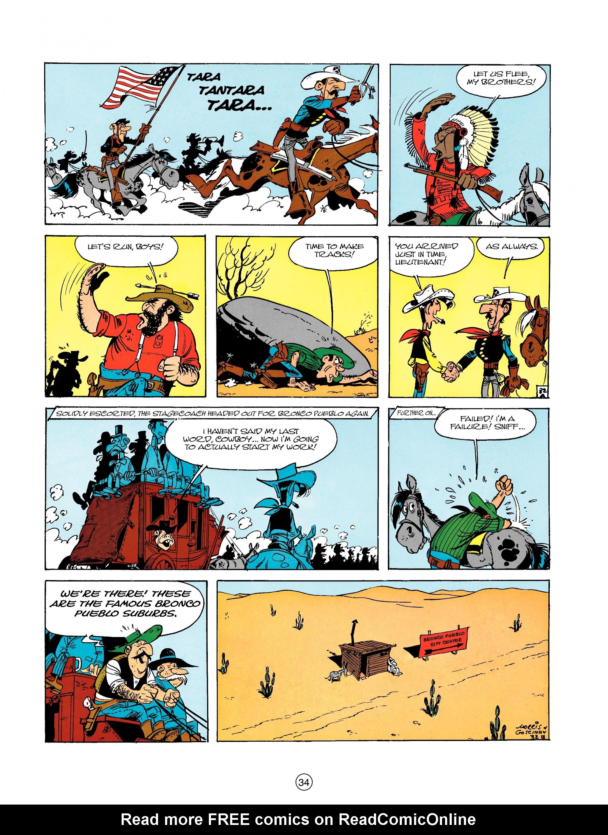 Read online A Lucky Luke Adventure comic -  Issue #18 - 34