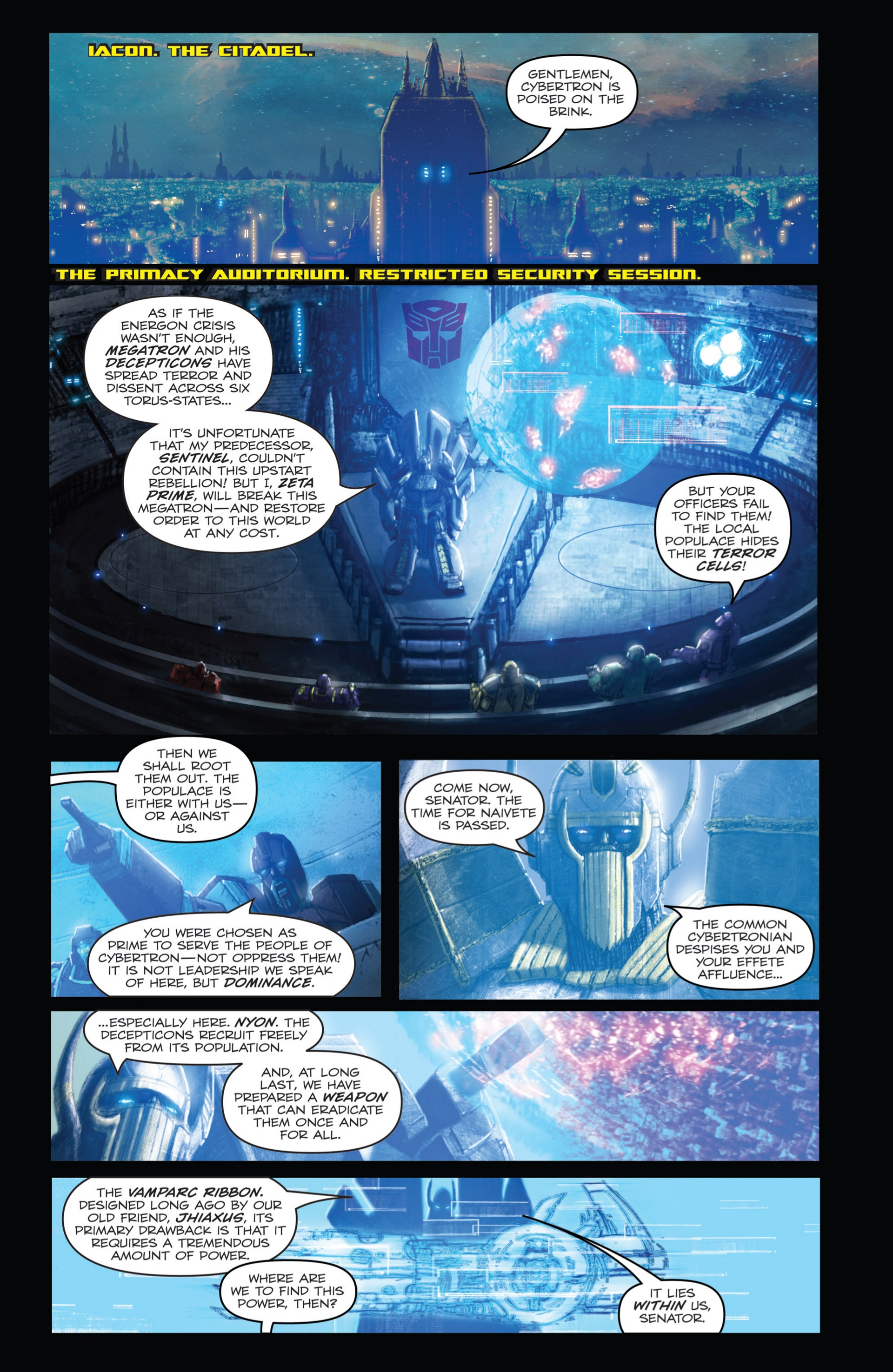 Read online Transformers: Autocracy comic -  Issue # Full - 17