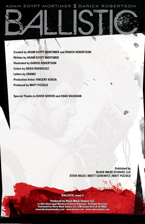 Read online Ballistic (2013) comic -  Issue #5 - 2