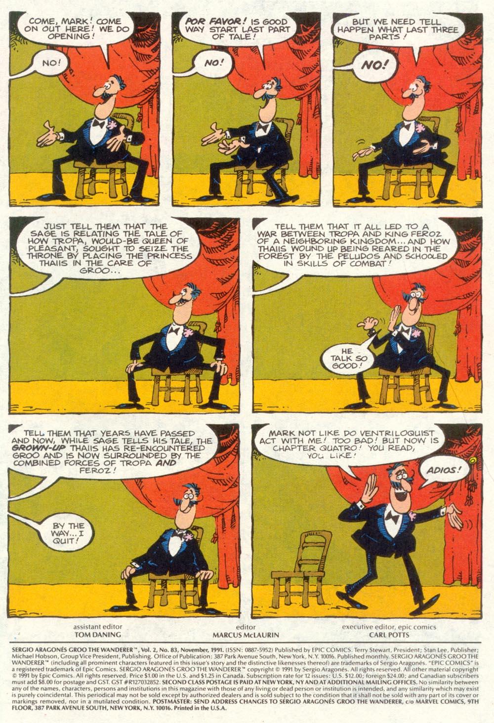 Read online Sergio Aragonés Groo the Wanderer comic -  Issue #83 - 2