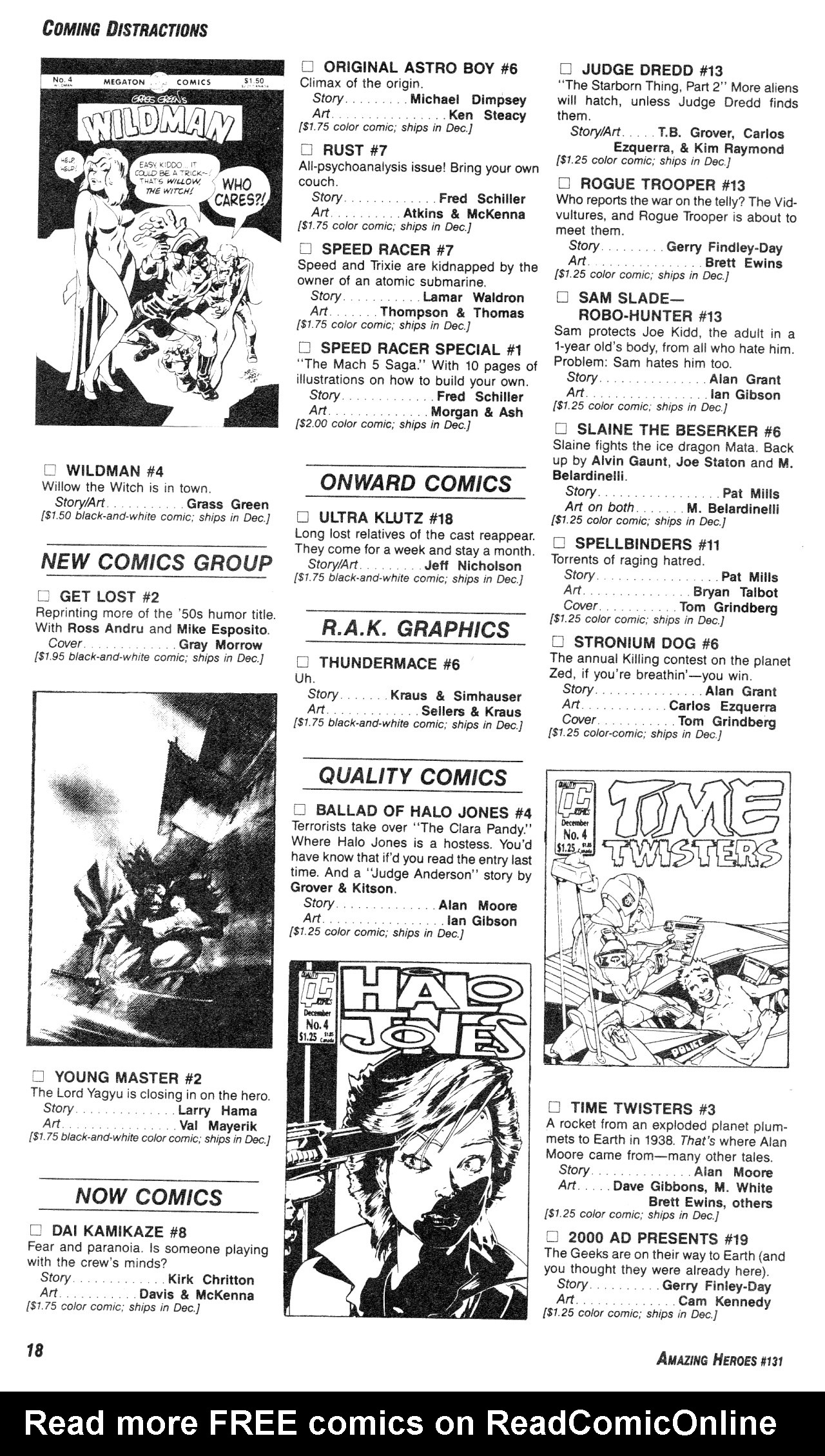 Read online Amazing Heroes comic -  Issue #131 - 18