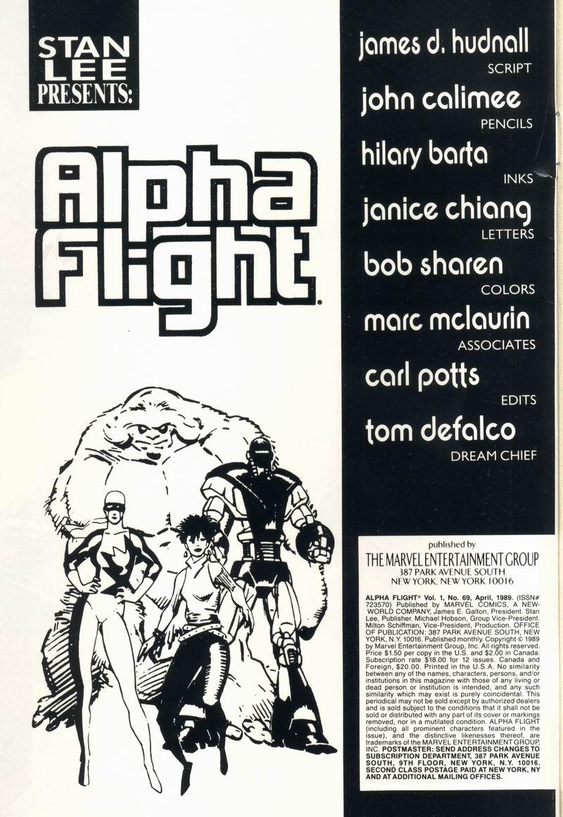 Read online Alpha Flight (1983) comic -  Issue #69 - 2