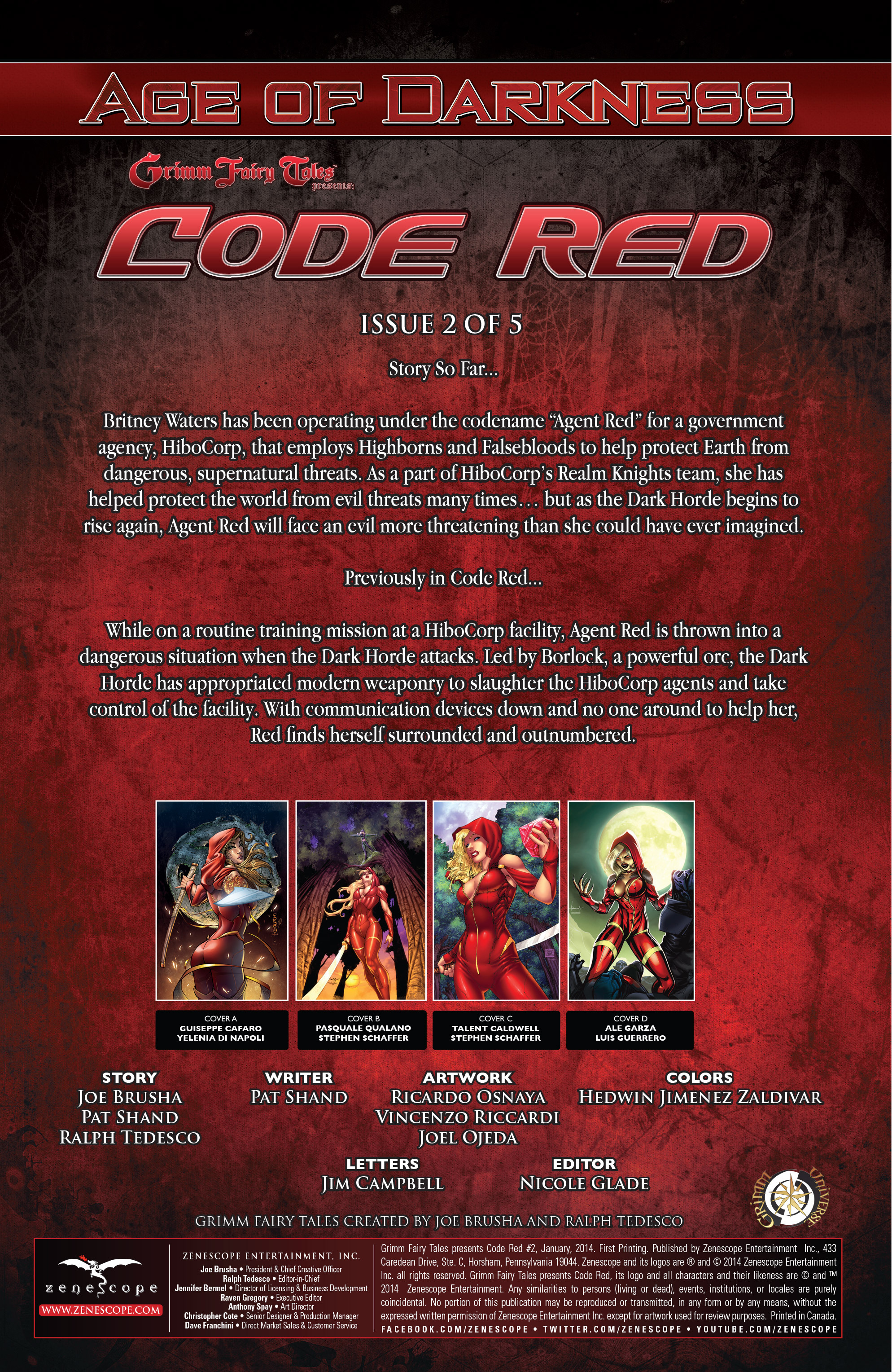 Read online Grimm Fairy Tales presents Code Red comic -  Issue # TPB - 30