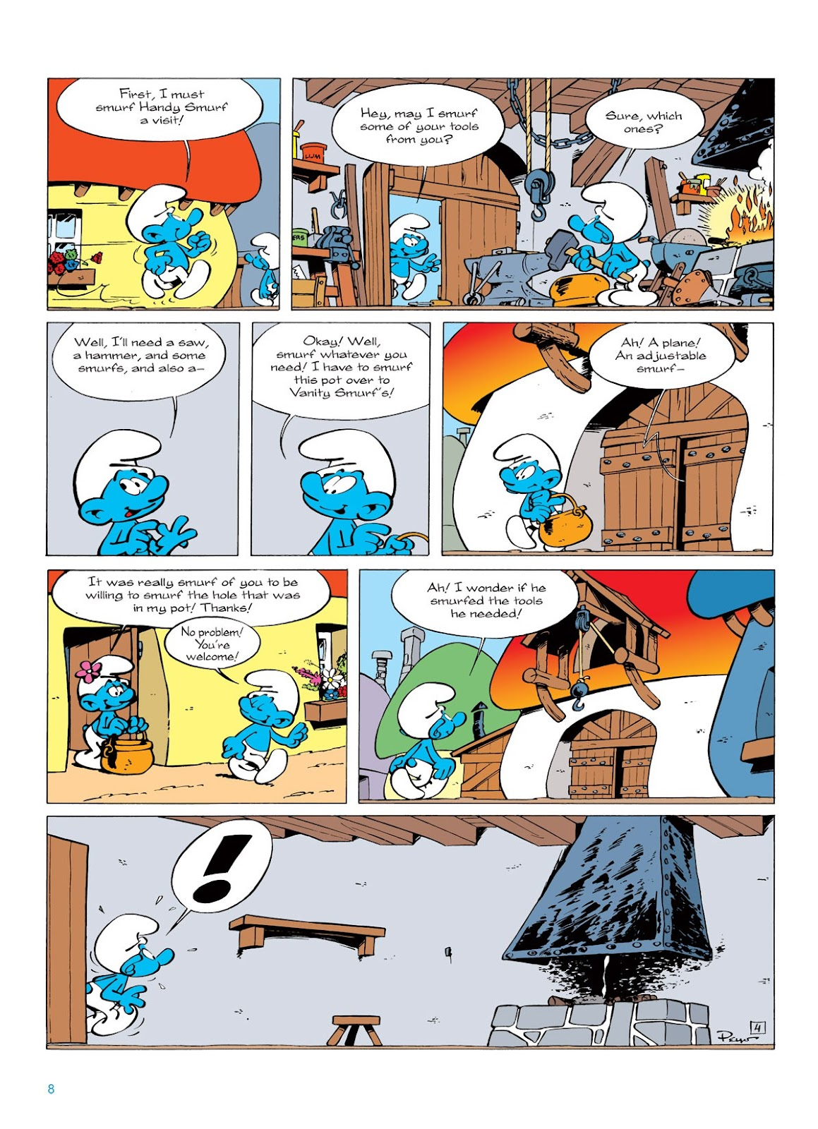Read online The Smurfs comic -  Issue #7 - 8