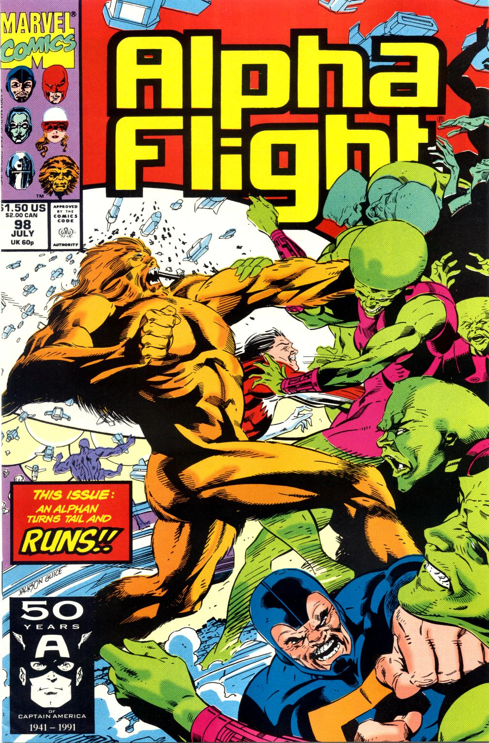 Read online Alpha Flight (1983) comic -  Issue #98 - 1