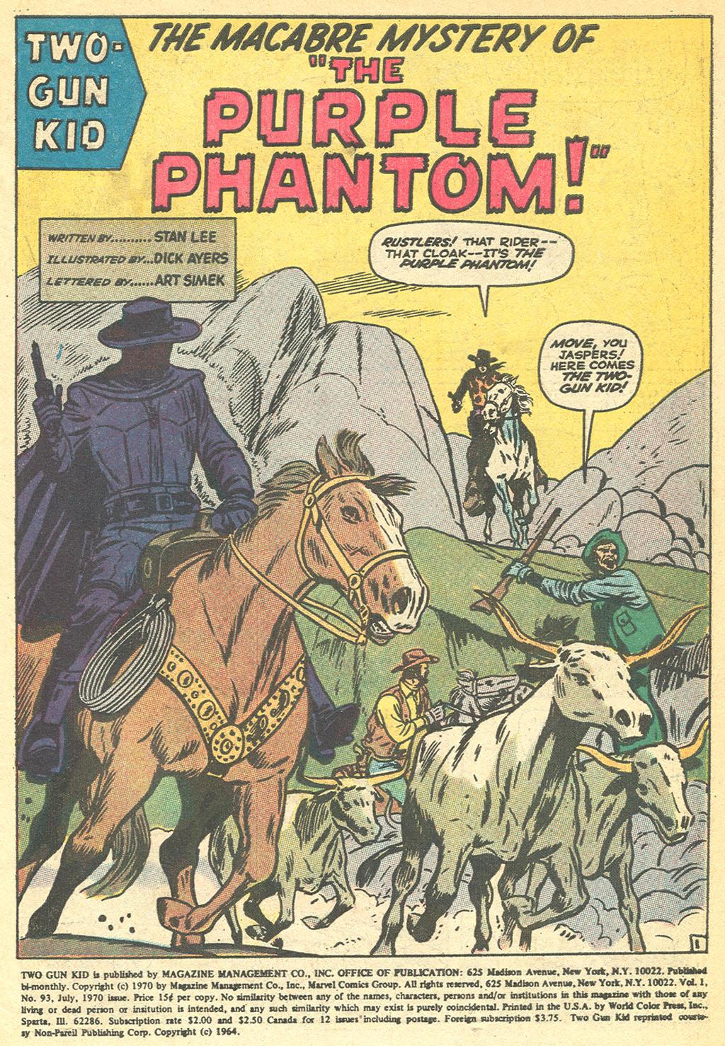 Read online Two-Gun Kid comic -  Issue #93 - 3