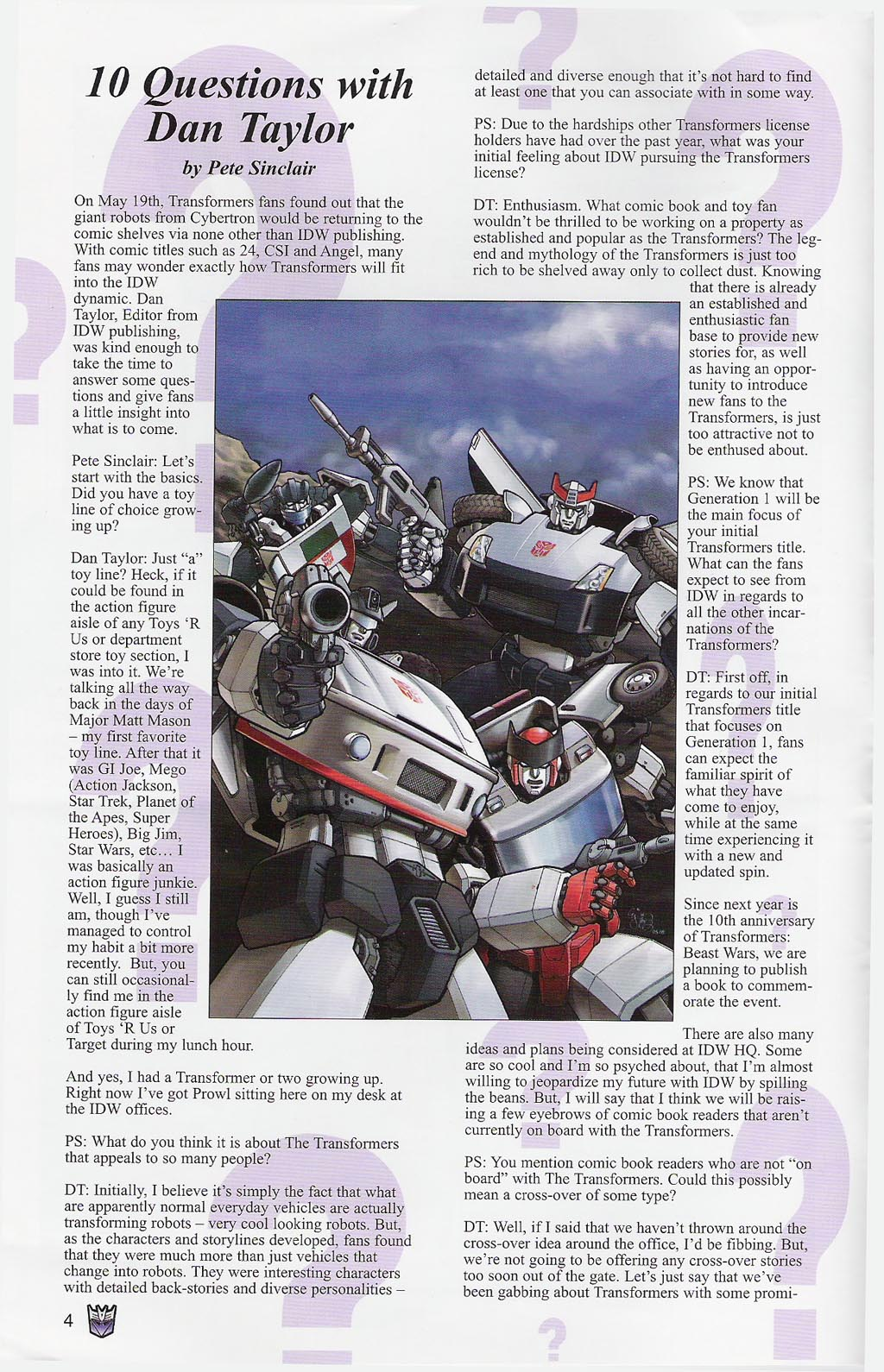 Read online Transformers: Collectors' Club comic -  Issue #4 - 4