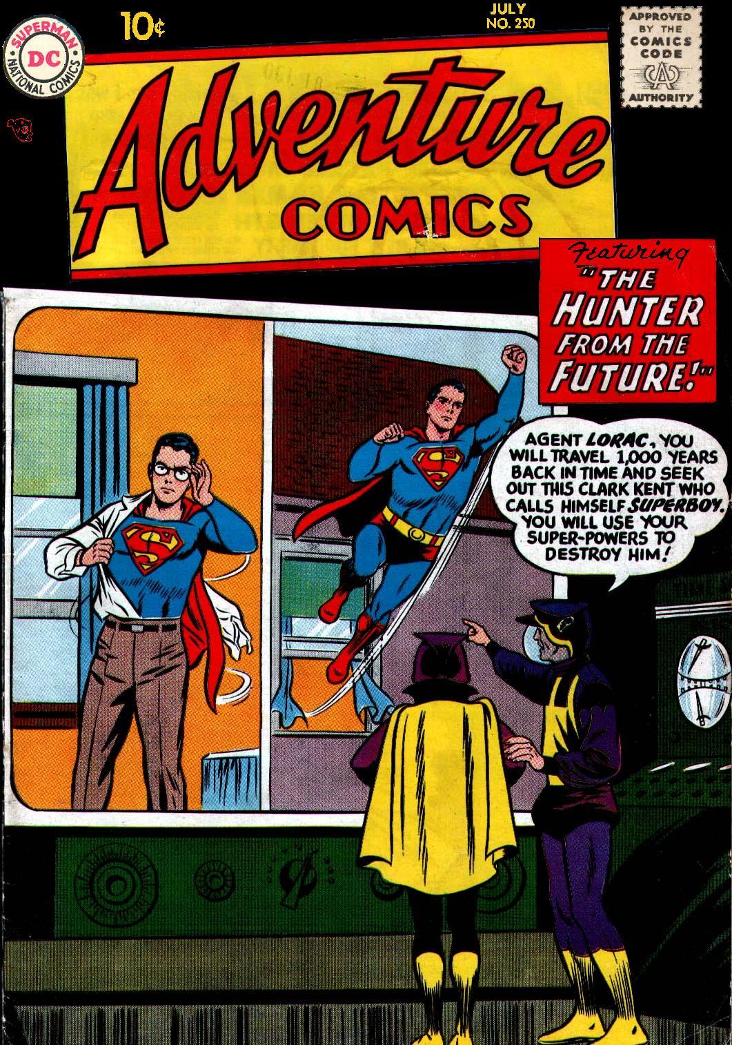 Read online Adventure Comics (1938) comic -  Issue #250 - 1