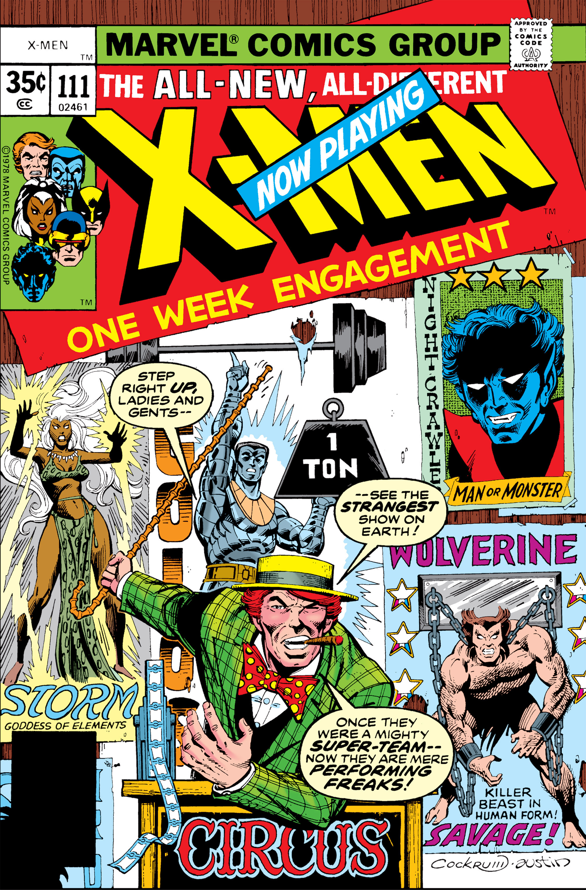 Read online Uncanny X-Men (1963) comic -  Issue #111 - 1
