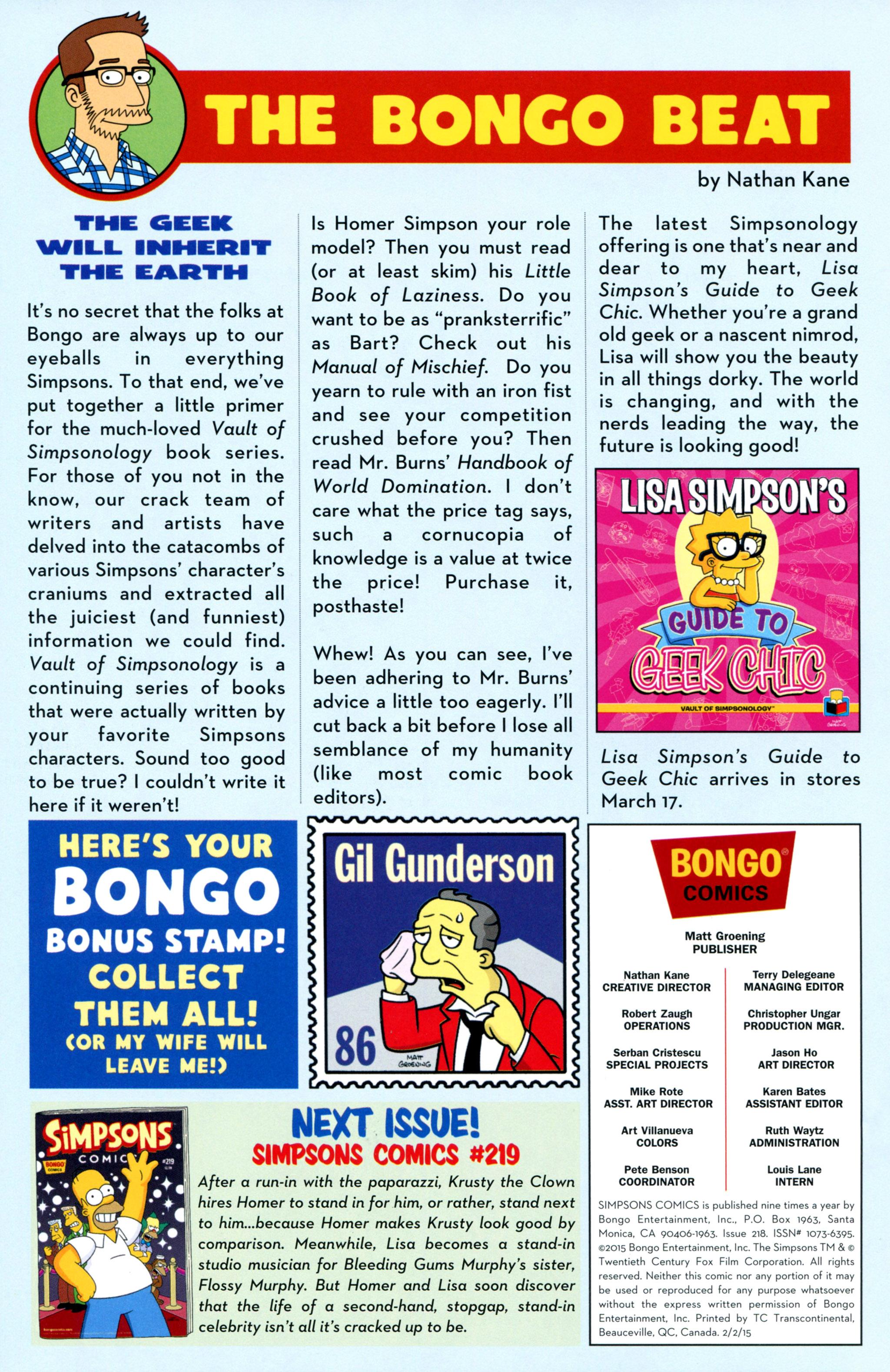 Read online Simpsons Comics comic -  Issue #218 - 28