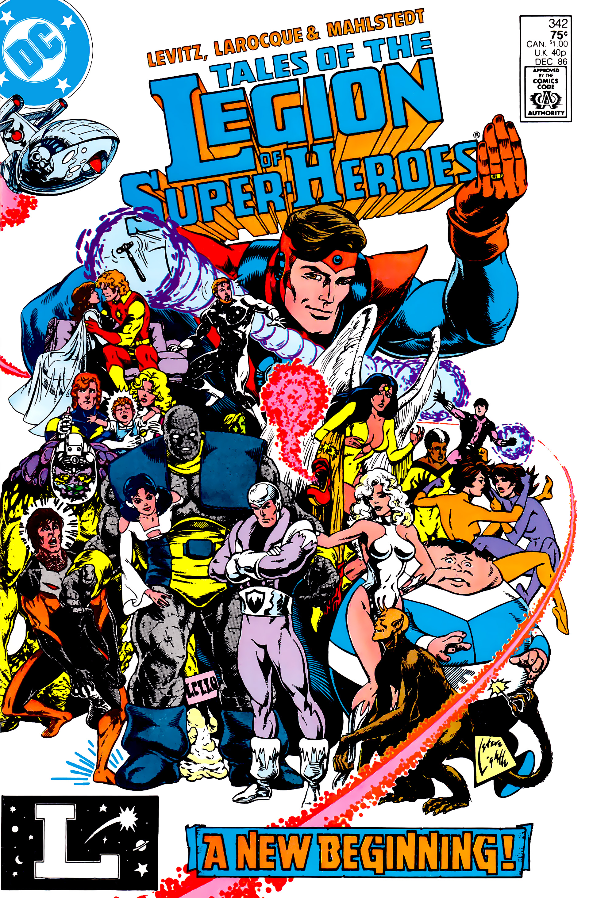 Legion of Super-Heroes (1984) 17 Page 1