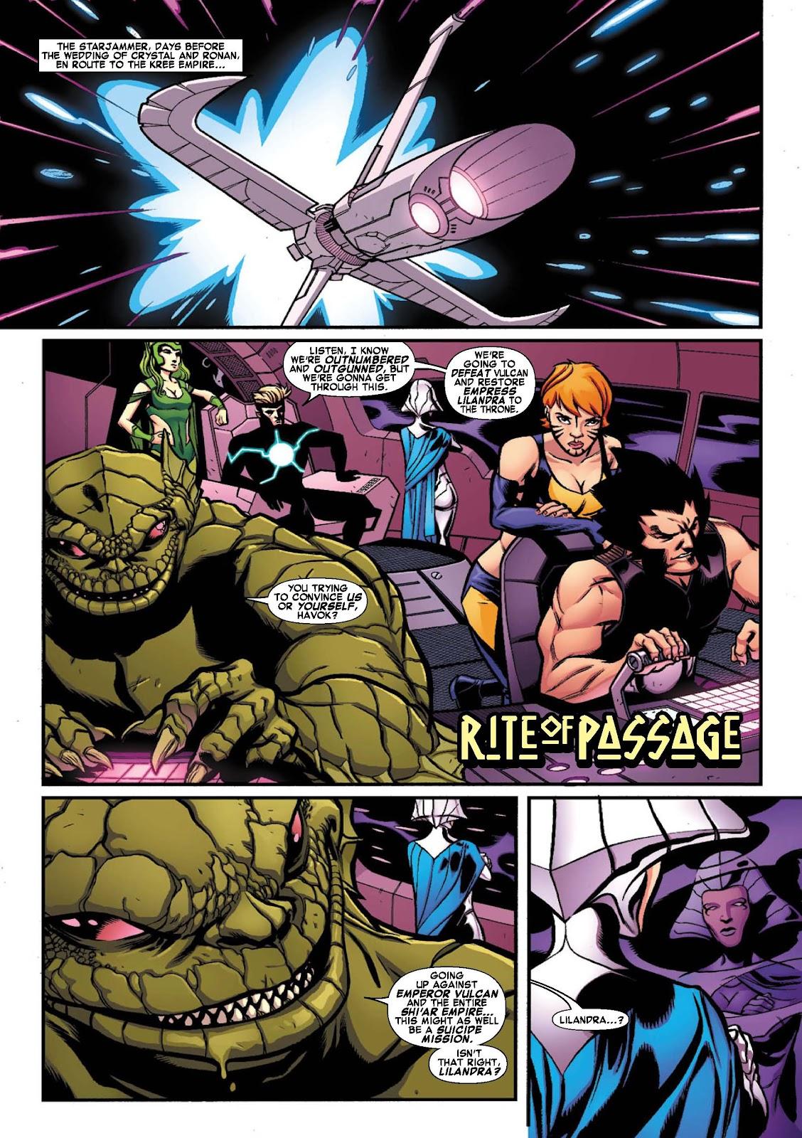 Read online War of Kings: Warriors - Lilandra comic -  Issue #1 - 3