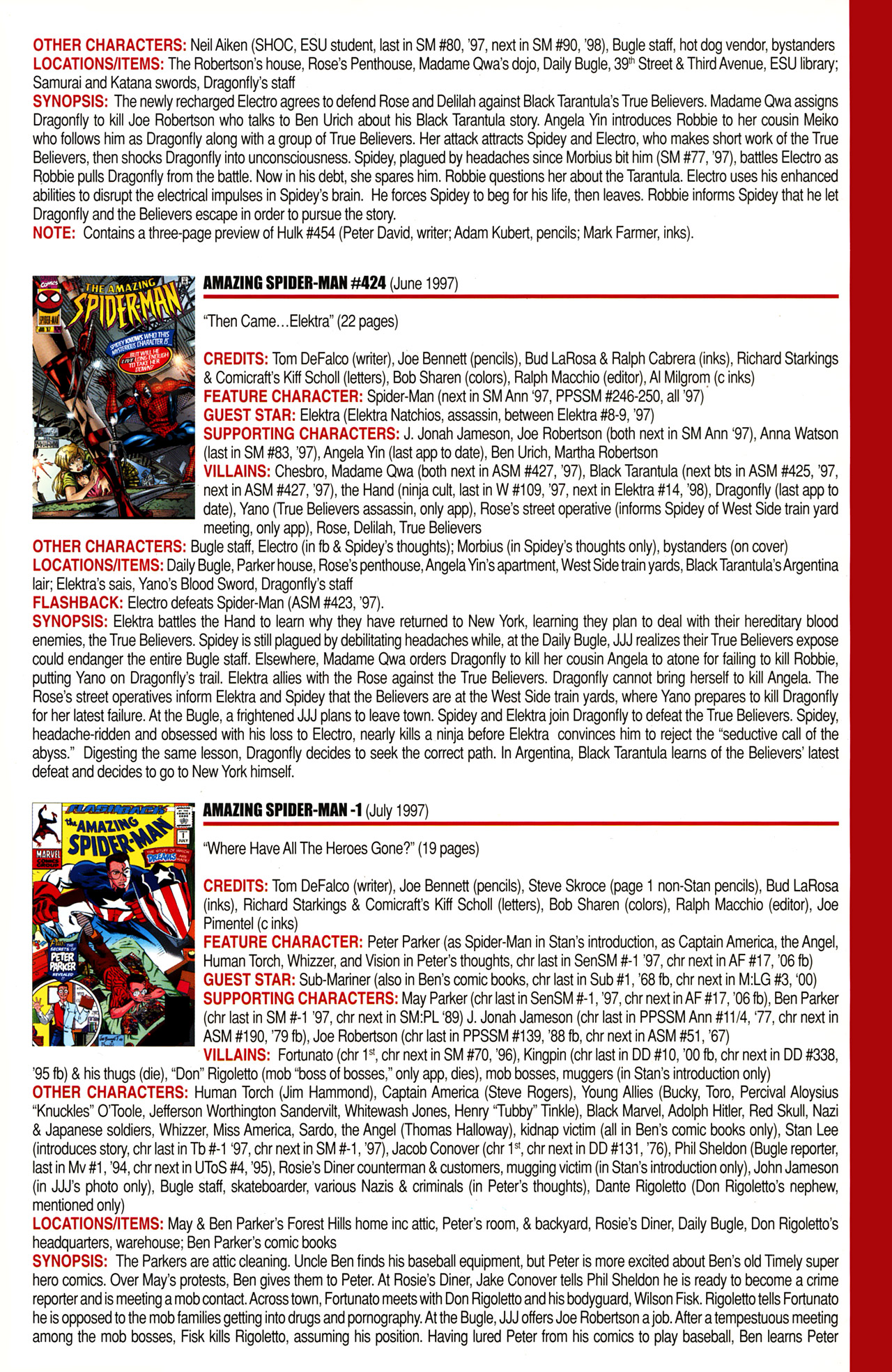 Read online Official Index to the Marvel Universe comic -  Issue #10 - 17