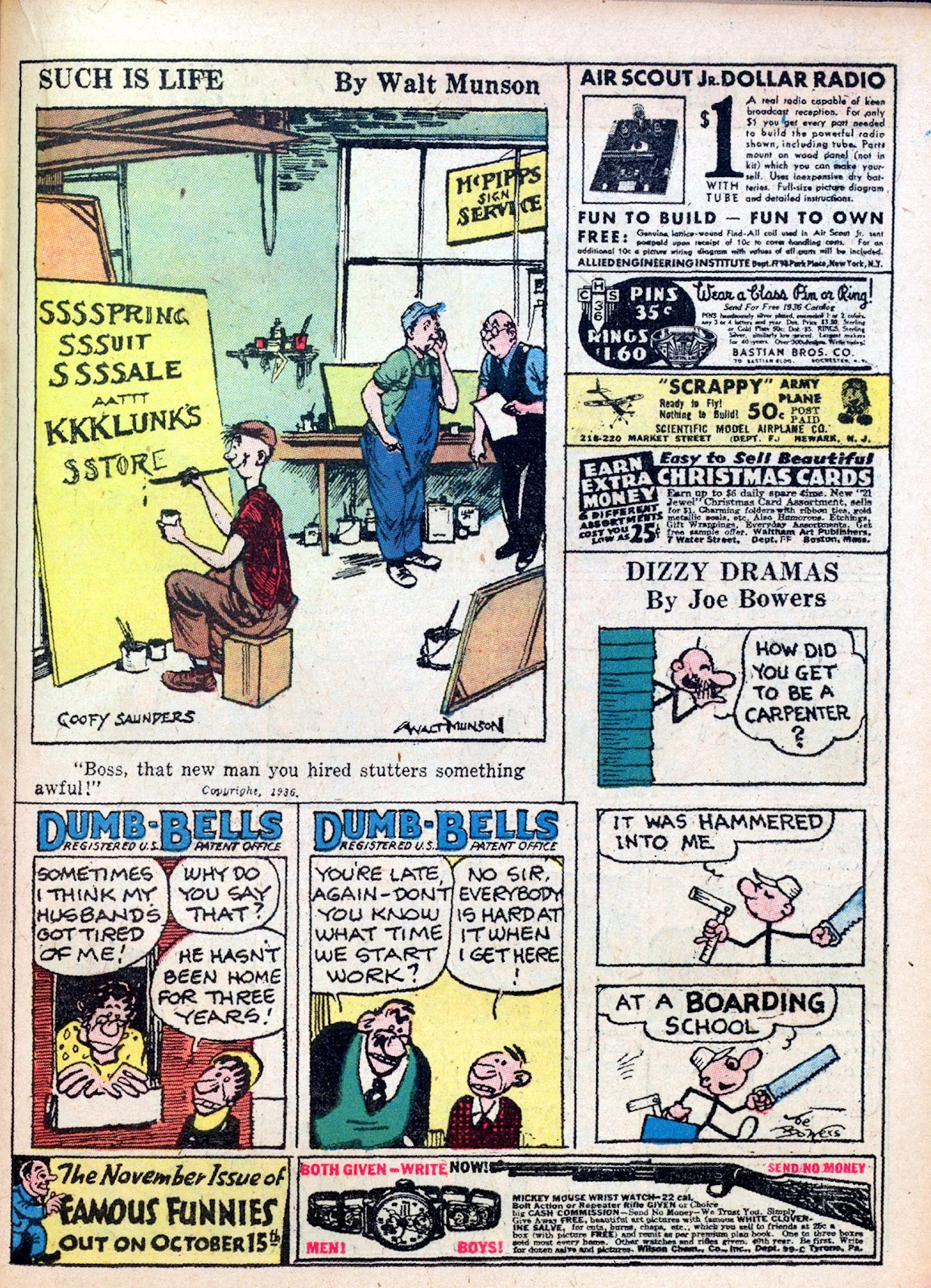Read online Famous Funnies comic -  Issue #27 - 43