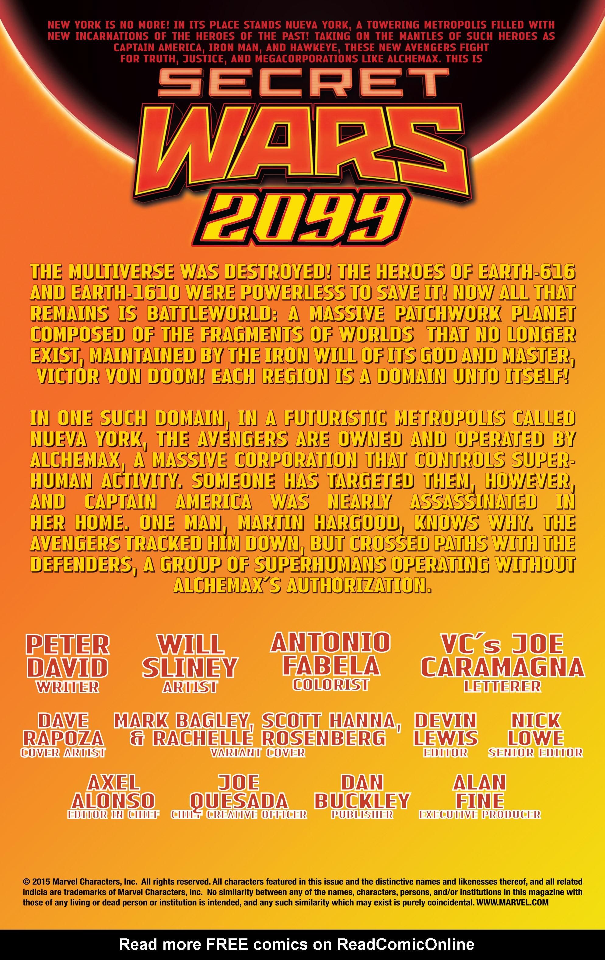 Read online Secret Wars 2099 comic -  Issue #3 - 2