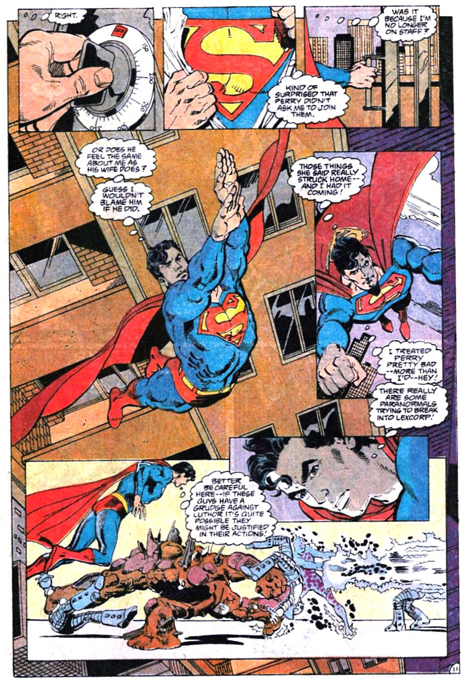 Read online Adventures of Superman (1987) comic -  Issue #466 - 12