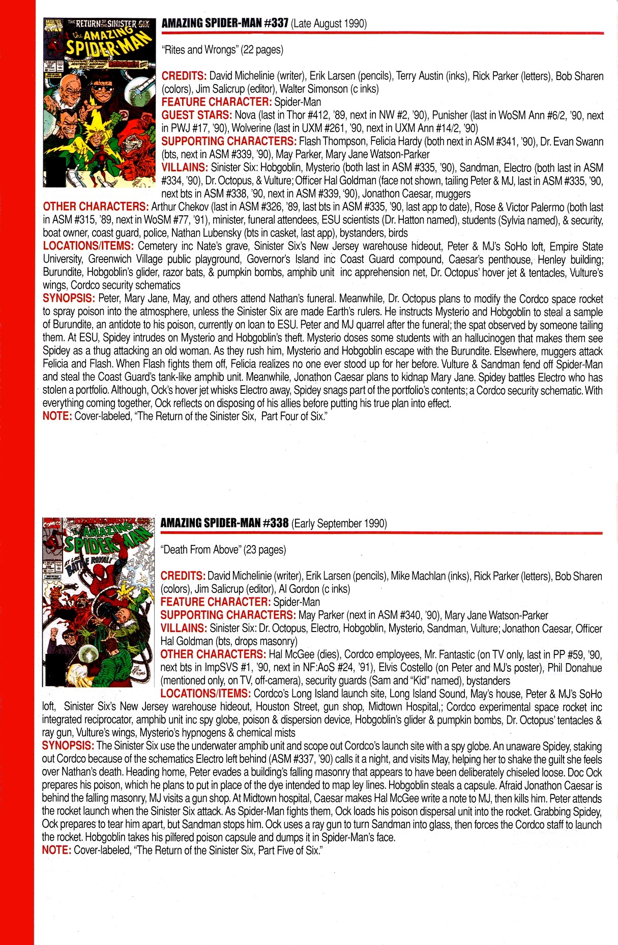 Read online Official Index to the Marvel Universe comic -  Issue #8 - 8
