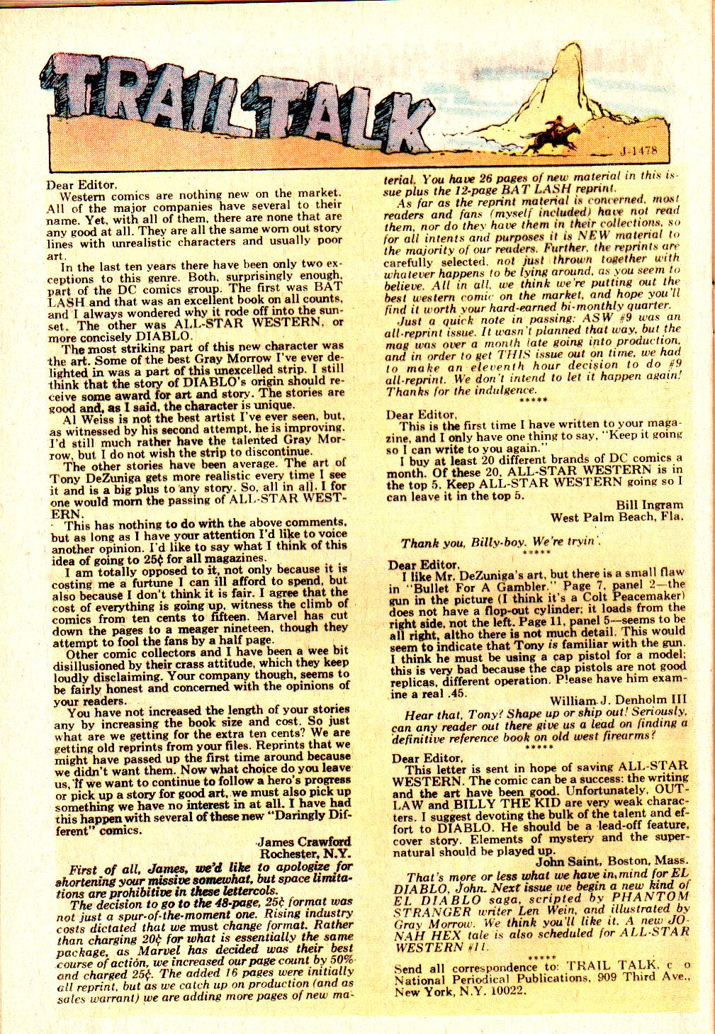 Read online All-Star Western (1970) comic -  Issue #10 - 34