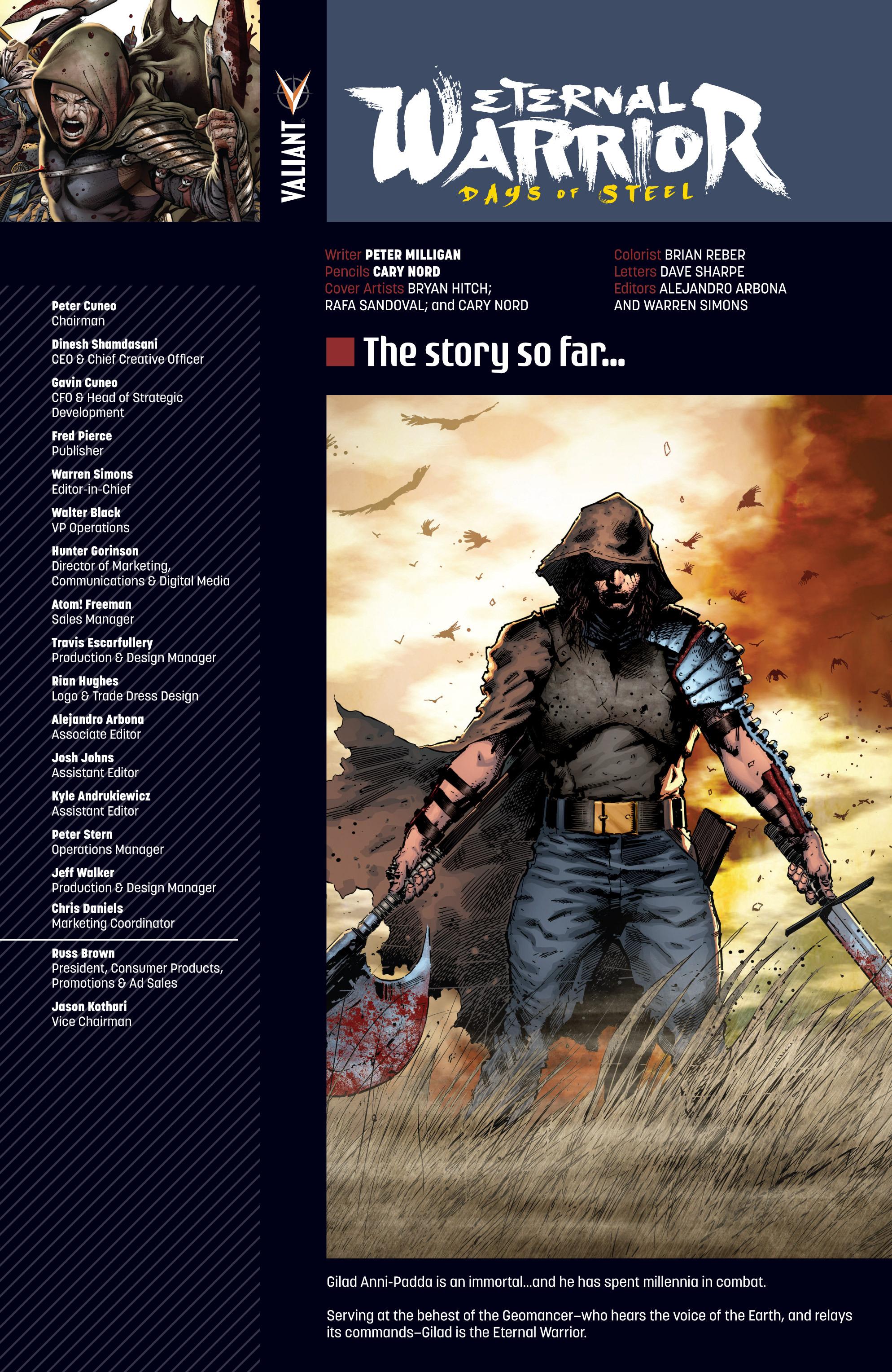 Read online Eternal Warrior: Days of Steel comic -  Issue #1 - 3
