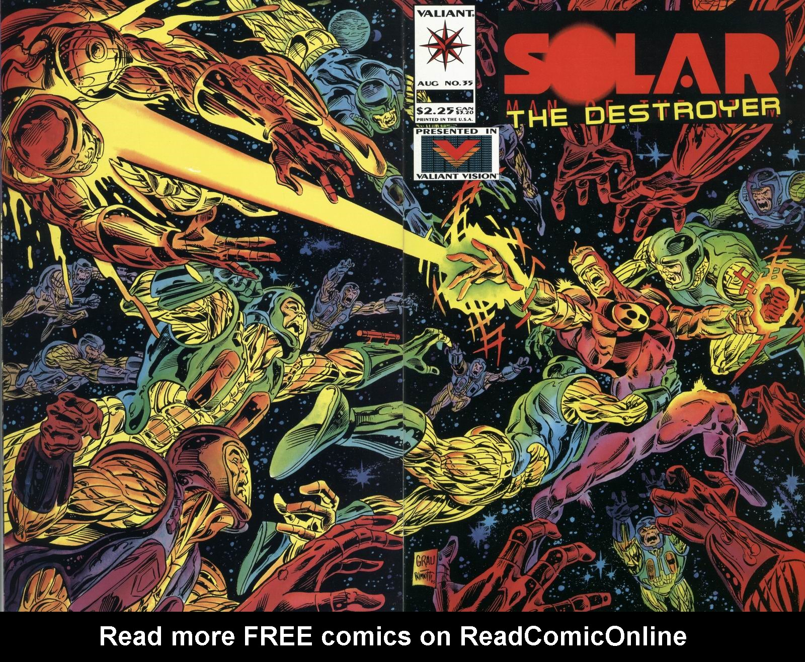 Read online Solar, Man of the Atom comic -  Issue #35 - 1