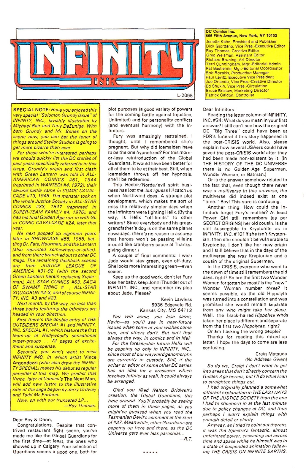Infinity Inc. (1984) issue 39 - Page 31