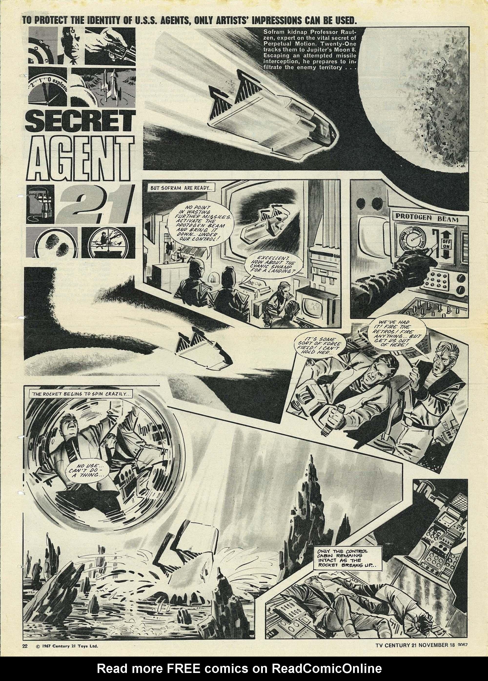 Read online TV Century 21 (TV 21) comic -  Issue #148 - 21