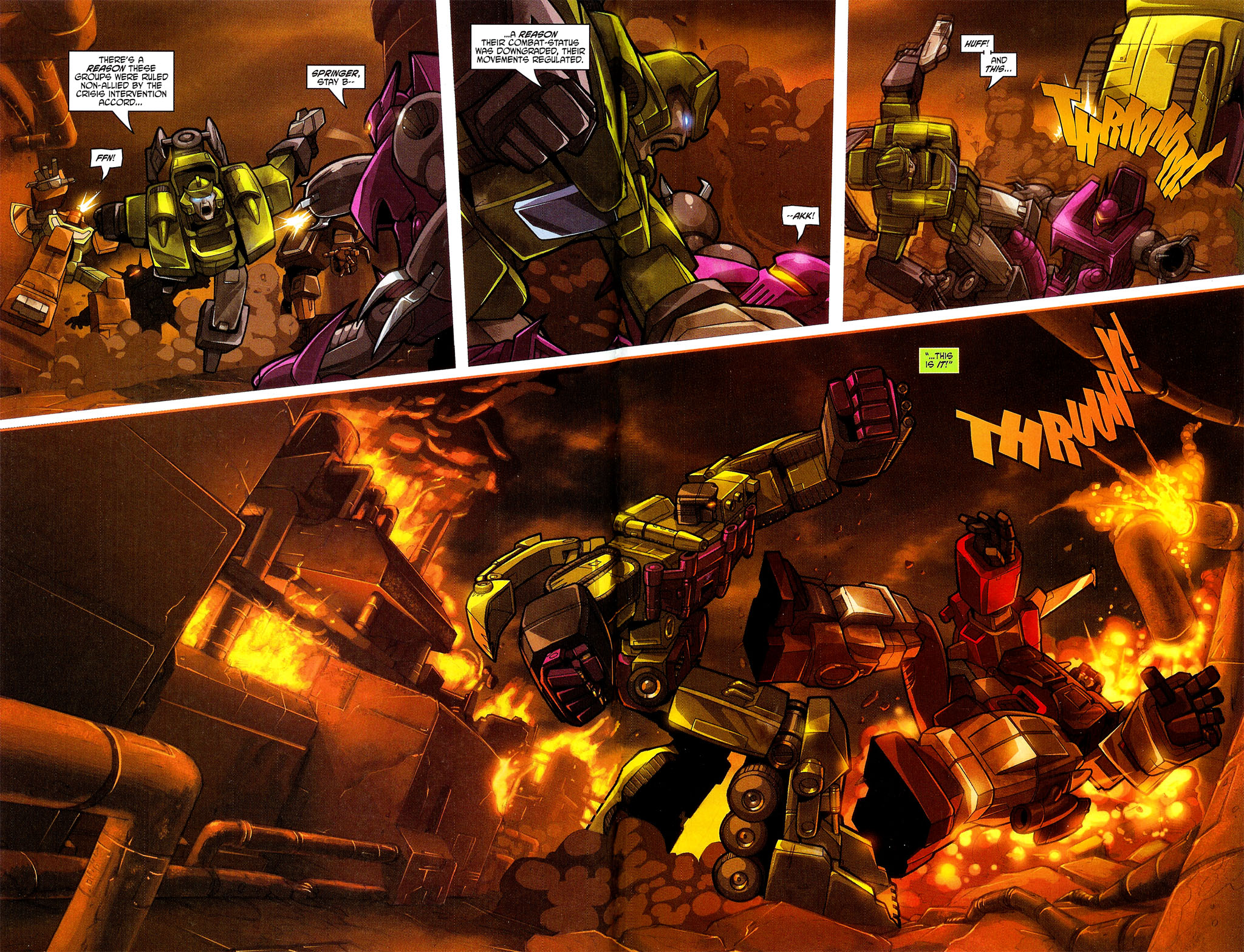 """Read online Transformers War Within: """"The Dark Ages"""" comic -  Issue #3 - 4"""