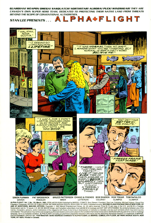 Read online Alpha Flight (1983) comic -  Issue #118 - 3