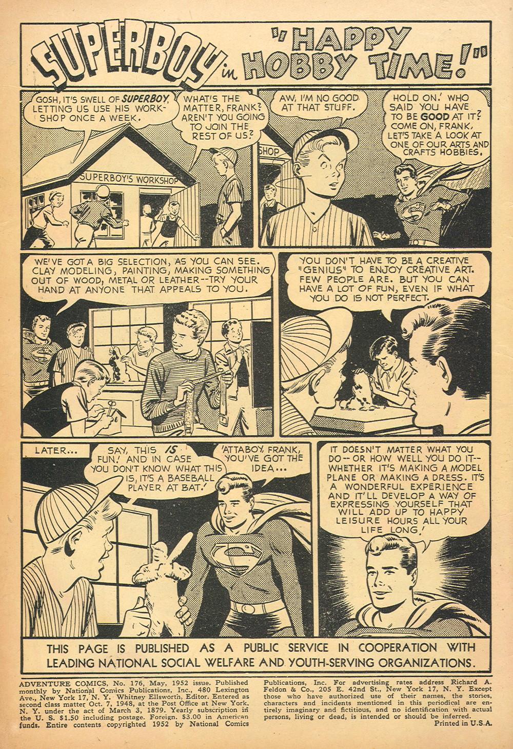 Read online Adventure Comics (1938) comic -  Issue #176 - 2