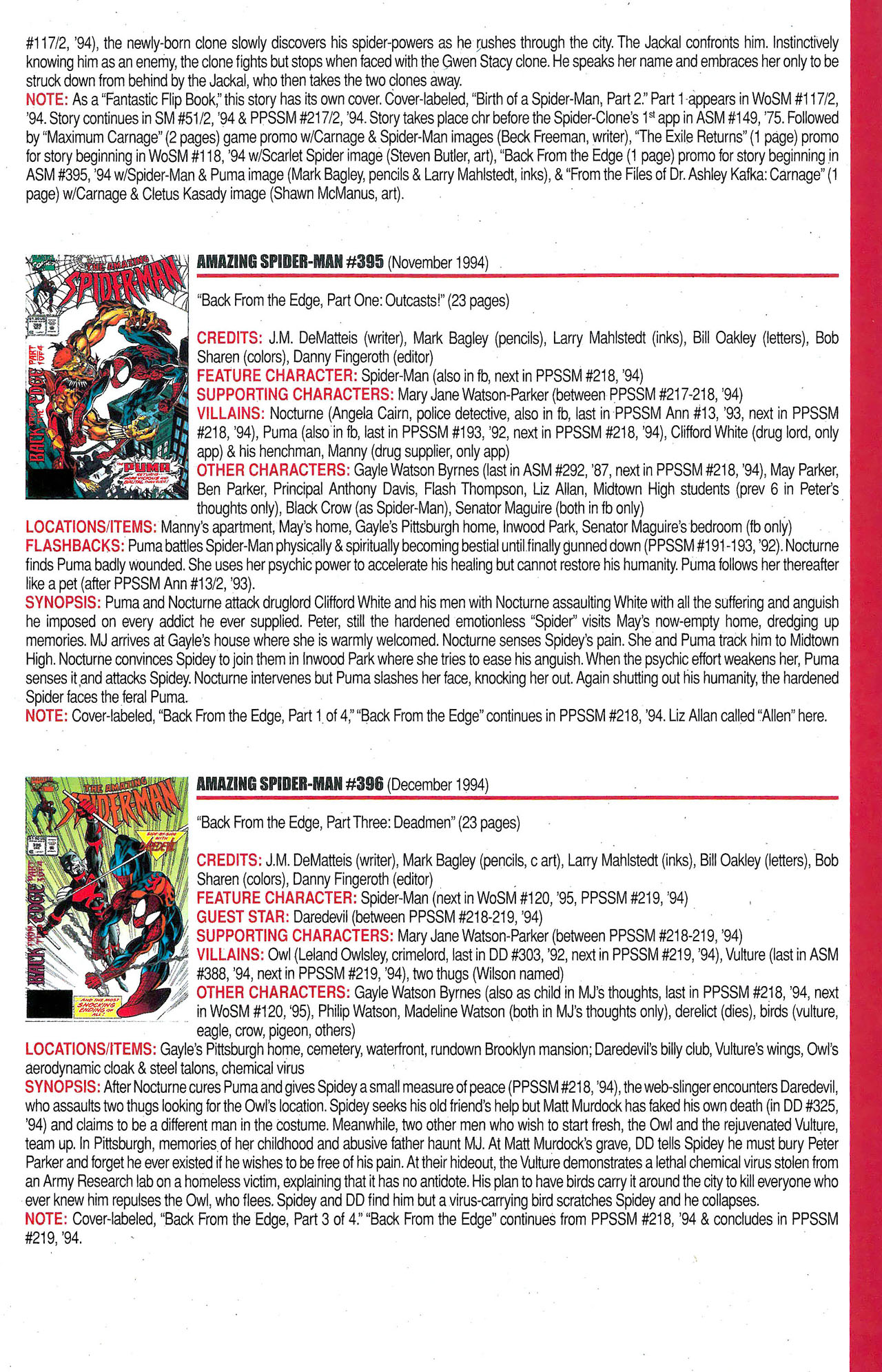 Read online Official Index to the Marvel Universe comic -  Issue #9 - 19